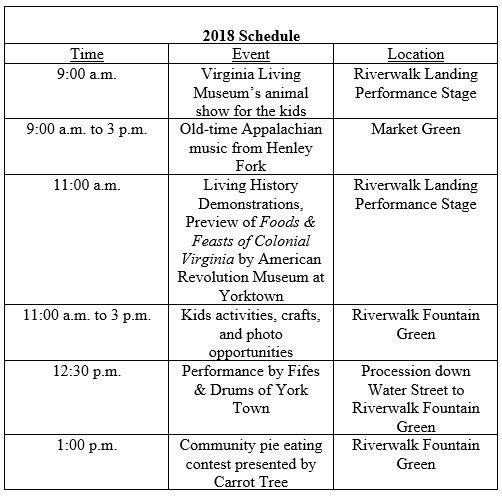 Harvest Festival Event Schedule