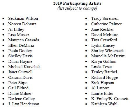 2019 Participating Artists  (list subject to change)