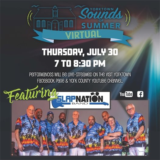 TONIGHT! Sounds of Summer Virtual Concert featuring Slapnation at 7 PM