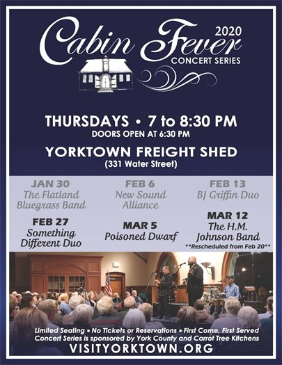 Join us Thursday, February 27 for the Cabin Fever Concert featuring Something Different Duo
