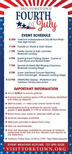 Yorktown Fourth of July Important Reminders