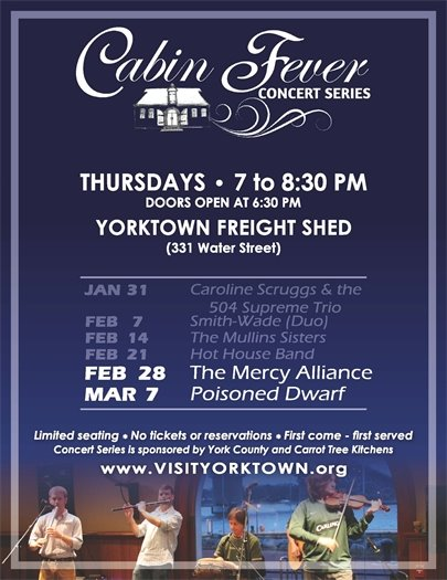 Join us for the Cabin Fever Concert Series this Thursday, February 28 featuring The Mercy Alliance