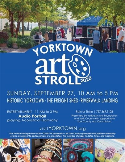 Yorktown Art Stroll this Sunday, September 27 from 10 AM to 5 PM