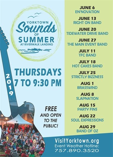 Yorktown Offers FREE Outdoor Concerts All Summer Long