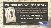 Author Talk at Yorktown Library on April 10