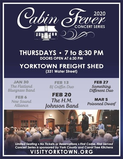 Join us Thursday, February 20 for the Cabin Fever Concert featuring The H.M. Johnson Band