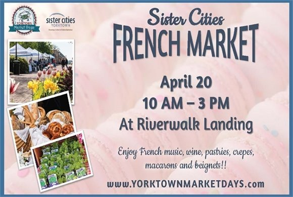 Join us this Saturday, April 20 for the Sister Cities French Market