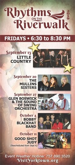 Join us this Friday, September 13 as we kick off the Rhythms on the Riverwalk concert series featuring Little Country