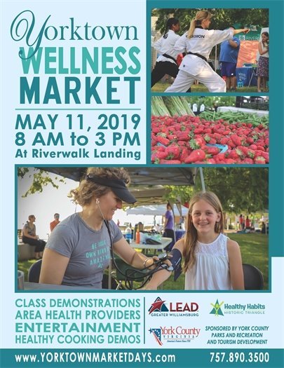 Yorktown Wellness Market returns Saturday, May 11 with extended hours