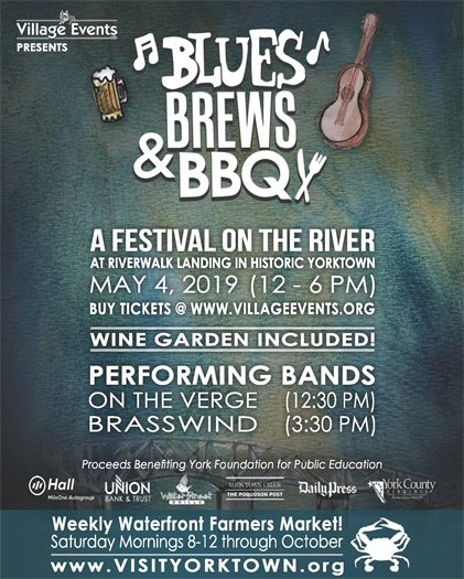 Don't miss Yorktown's Blues, Brews & BBQ Festival this Saturday, May 4
