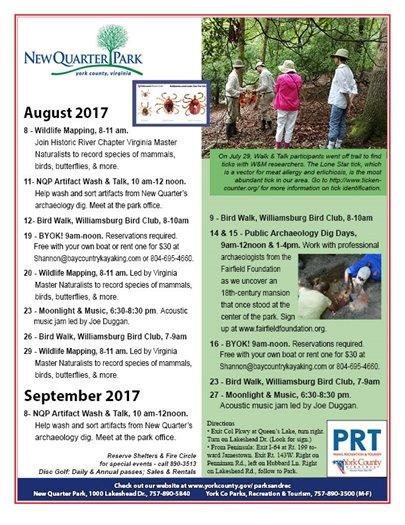 August and September Newsletter