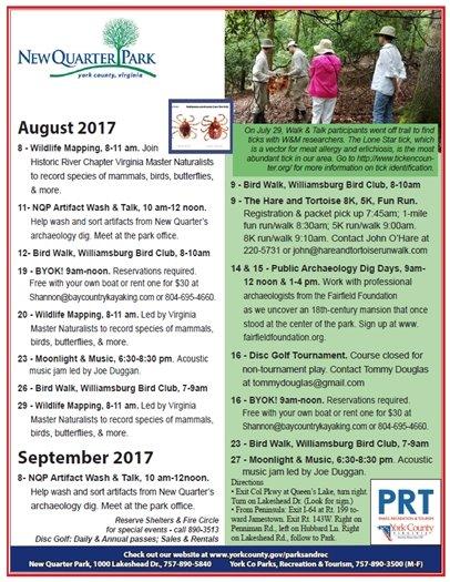 August / September Calendar