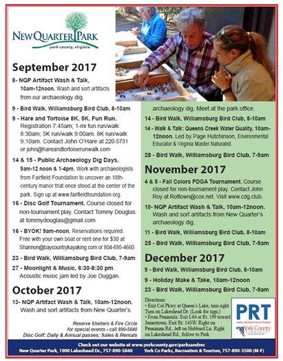 September through December Calendar