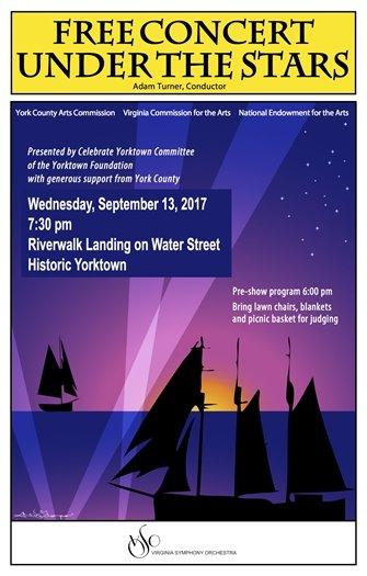 Don't' miss the Virginia Symphony Rescheduled Concert this Wednesday, September 13 at Riverwalk Landing