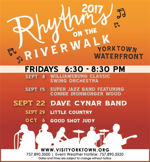 Join us this Friday, September 22 for the Dave Cynar Band