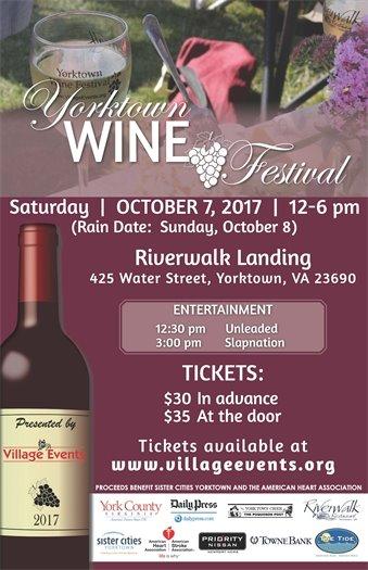Yorktown Wine Festival set for Saturday, October 7