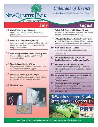 New Quarter Park Calendar of Events