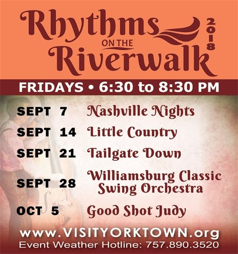Kick off your weekends this fall with Rhythms on the Riverwalk