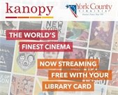 Ad for Kanopy moving streaming service