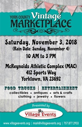 Don't miss the 2nd Annual Vintage Marketplace this Saturday, Nov. 3