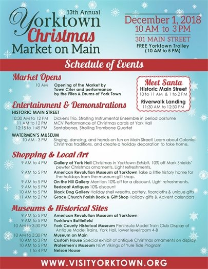 13th Annual Yorktown Christmas Market on Main Street this