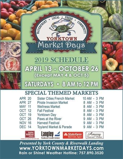 Yorktown Market Days Season Kicks Off Saturday, April 13