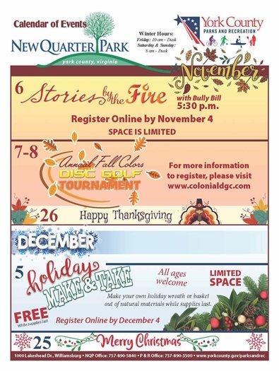 November/December Calendar