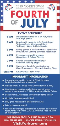 Yorktown Fourth of July Schedule and Detailed Information