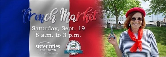 Sister Cities French Market this Saturday, Sept. 19 from 8 AM to 3 PM