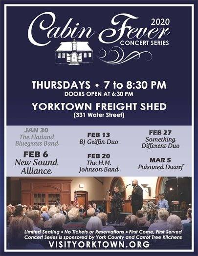 Join us Thursday, February 6 for the Cabin Fever Concert featuring New Sound Alliance