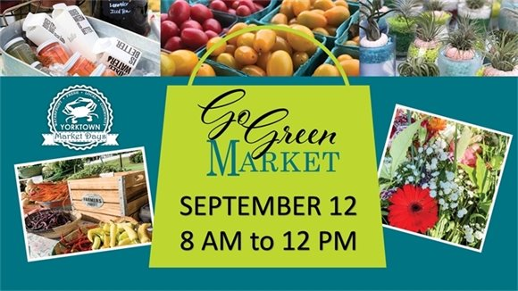 Go Green Market this Saturday, September 12 - 8 AM to 12 PM