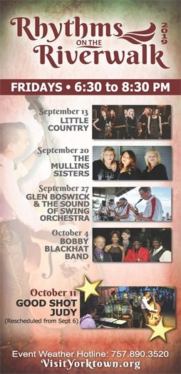 Join us this Friday, October 11 for the final Rhythms on the Riverwalk concert featuring Good Shot Judy