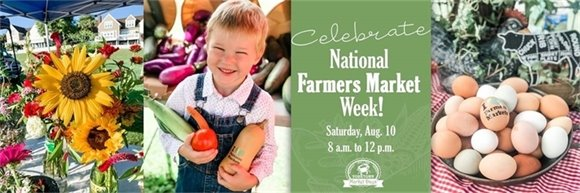 Celebrate National Farmers Market Week with Yorktown Market Days this Saturday, August 10 from 8 a.m. to 12 p.m.