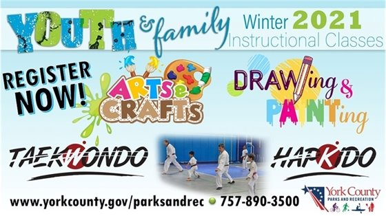 Parks and Recreation Winter Instructional Classes