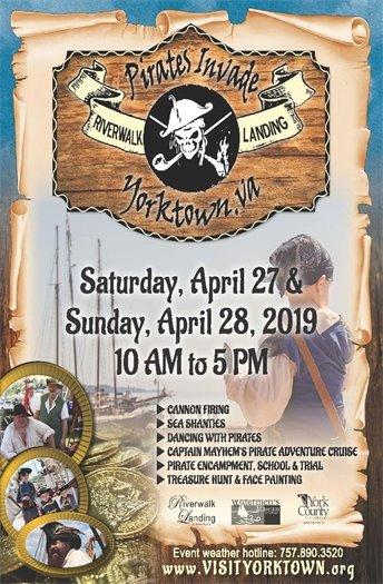 Pirates Invade Yorktown next Saturday and Sunday, April 27 & 28