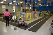 Children participating in Safety Town