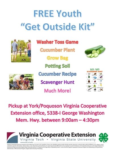 Free Youth Get Outside Kit pickup at VCE