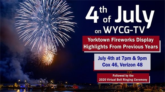 Fireworks show airing on WYCG TV July 4th at 7 and 9 pm