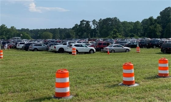 Battlefield Parking for the 4th of July
