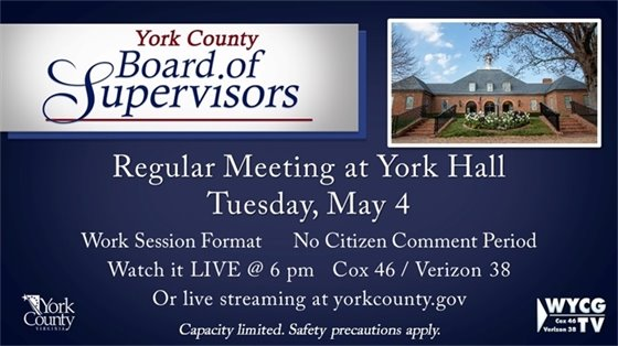 Board of Supervisors Meeting - Tuesday, May 4