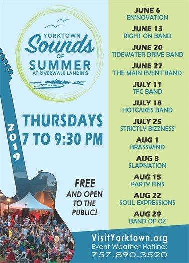 Yorktown Extends its Sounds of Summer Concert Series - Join us next Thursday, June 6