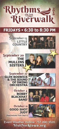 Join us this Friday, September 20 for the Rhythms on the Riverwalk concert series featuring The Mullins Sisters
