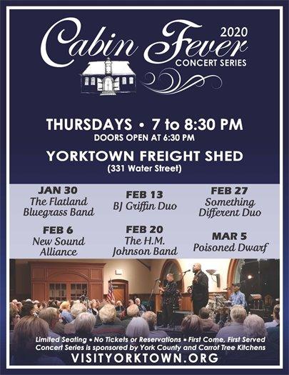 Yorktown's Cabin Fever Concert Series kicks off tonight, Thursday, January 30