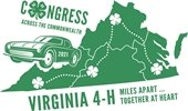2021 4-H Congress car traveling Virginia with clovers
