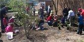 Planting 4-H Schoolyard Habitats Outreach Garden