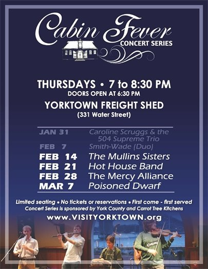 Join us for the Cabin Fever Concert this Thursday, February 14 featuring The Mullins Sisters