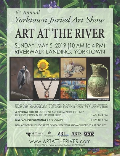Yorktown's 6th Annual Juried Art Show returns this Sunday, May 5