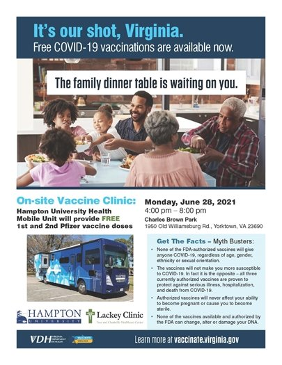Vaccine Clinic at Charles Brown Park