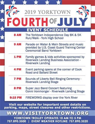Yorktown Fourth of July Schedule