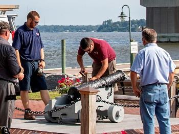 Replica Cannon Placed at York River Waterfront